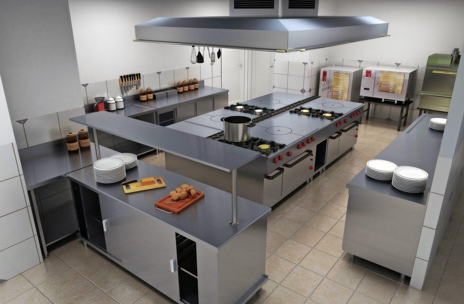 Resultado de imagen para dise o de la zona de coccion - Diseno cocina industrial ...