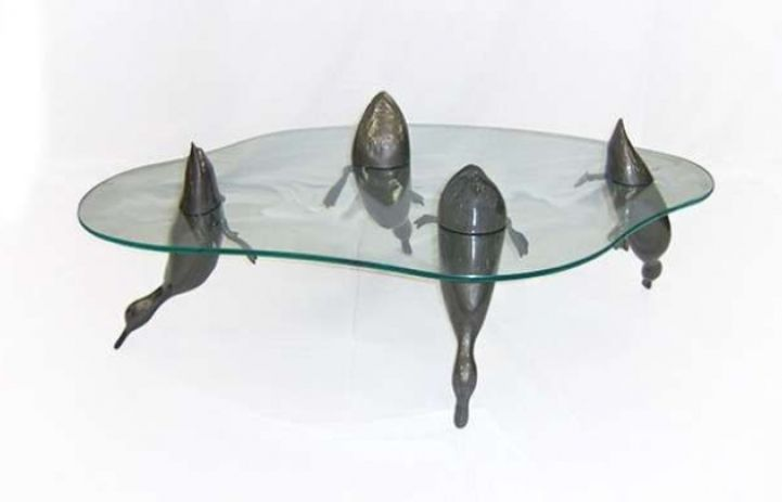 Animal Submerged Table Unique Table Design Coffee Table Design Cool Coffee Tables