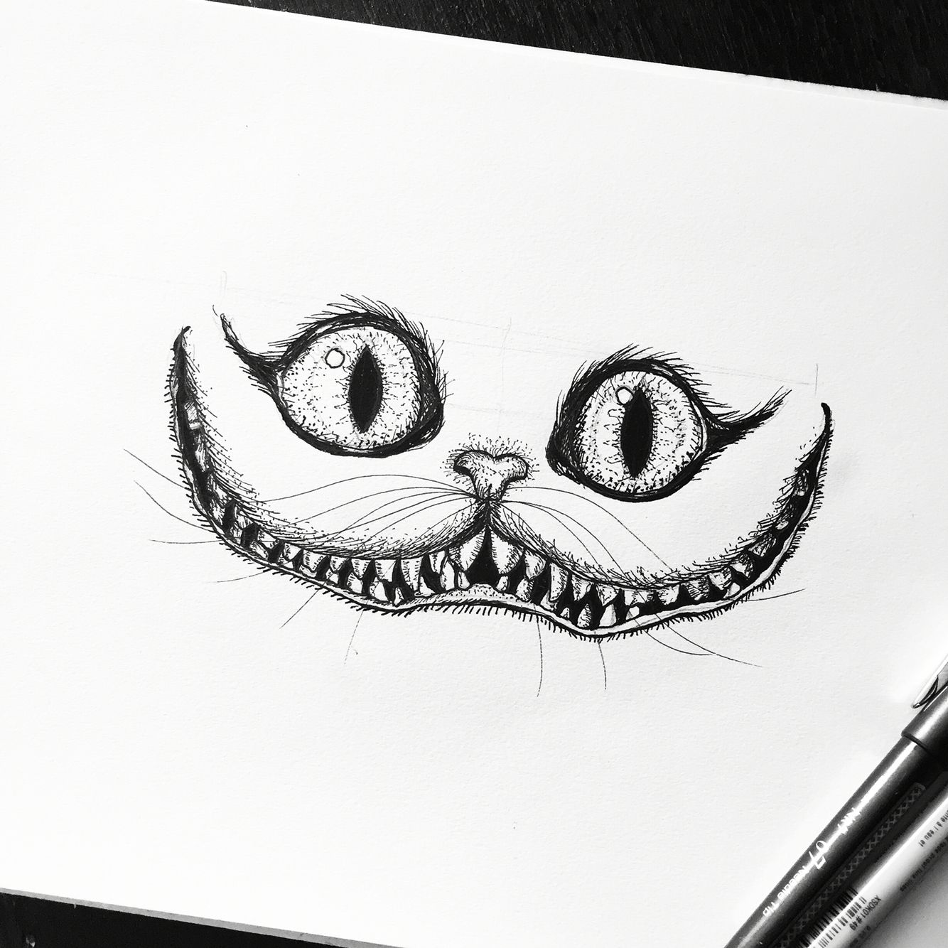 Cheshire Cat Alice In Wonderland Sketch Drawing Art