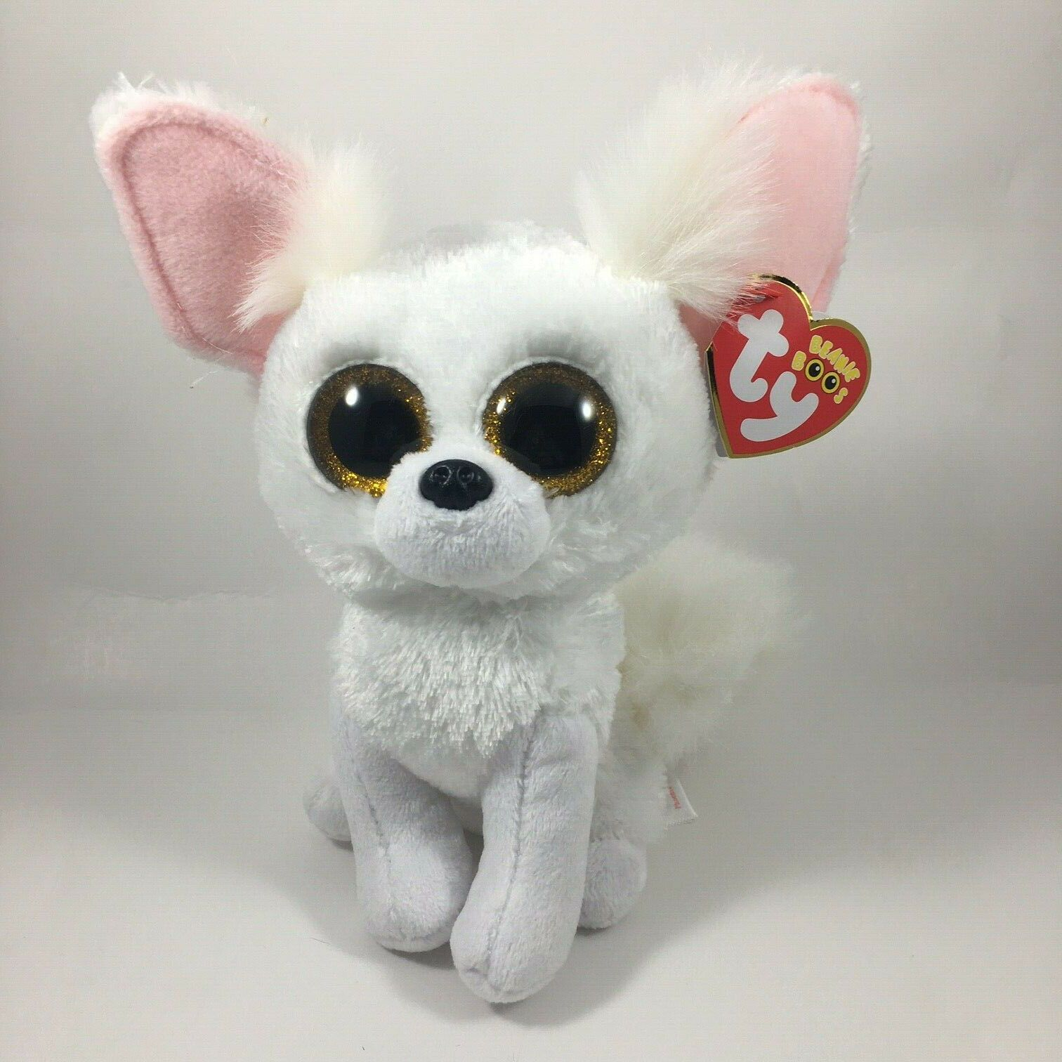 Details About 2020 Ty Beanie Boos 6 Phoenix White Fennec Fox