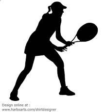 Tennis Female Outline Google Search Free Clipart Images Free Clip Art Tennis