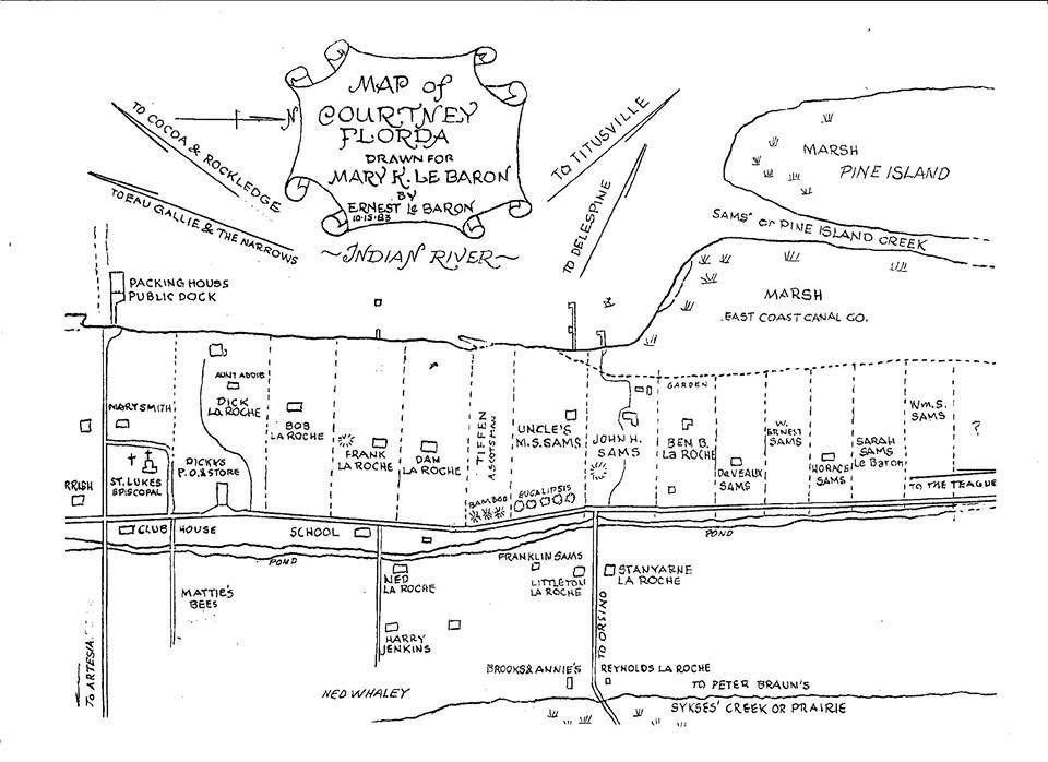Map Of Merritt Island Florida.Old Settlement Map Of Merritt Island Neighborhood History Old