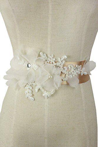 organza flowers for wedding dress