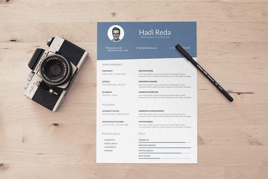 17 free resume templates CV\u0027s Pinterest Cv template, Template - free resume design templates