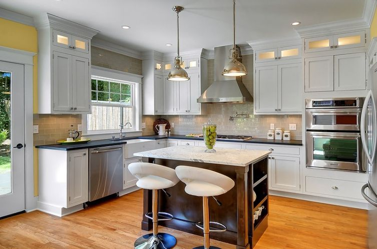 Open and bright kitchen with island seating. Mt. Baker craftsman home by LimeLite Development in Seattle, WA. | Green home. Sustainable living.