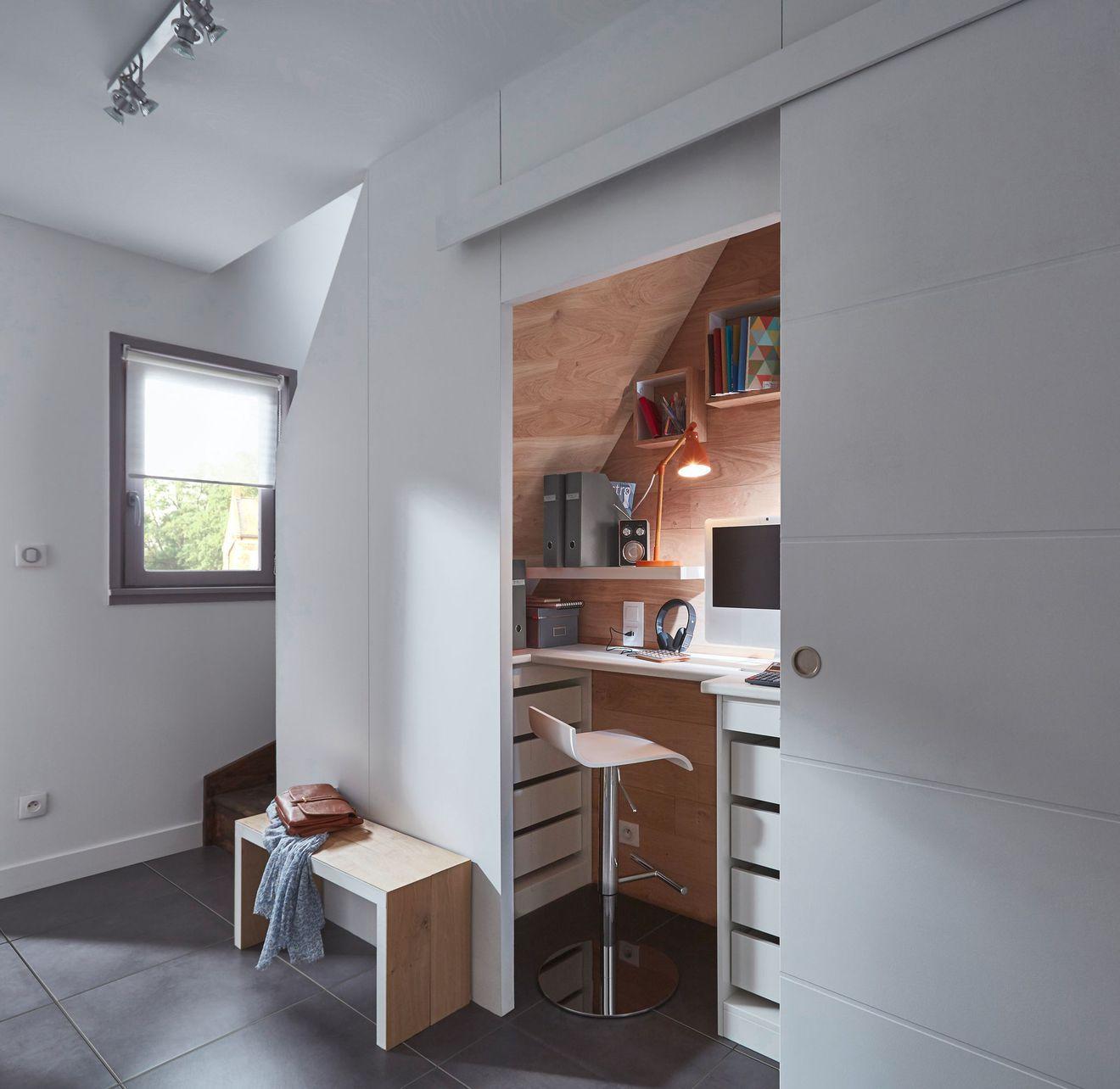 Placards Et Rangements Sur Mesure Coulissants Dressing Bureau Placard Bureau Sous Escalier Monter Une Cloison