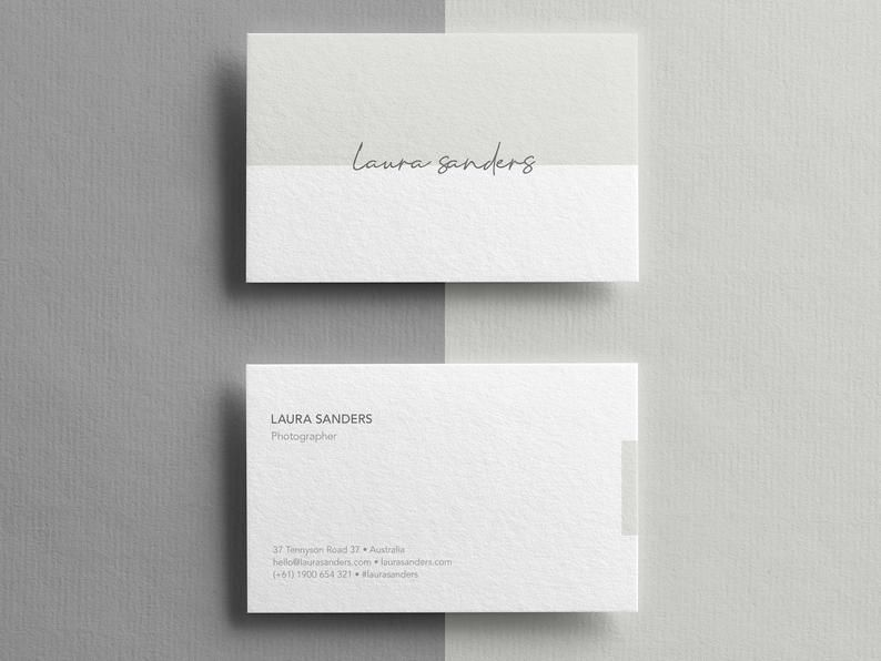 Business Cards Template Business Thank You Cards Thank You Etsy Business Card Templates Download Printable Business Cards Modern Business Cards