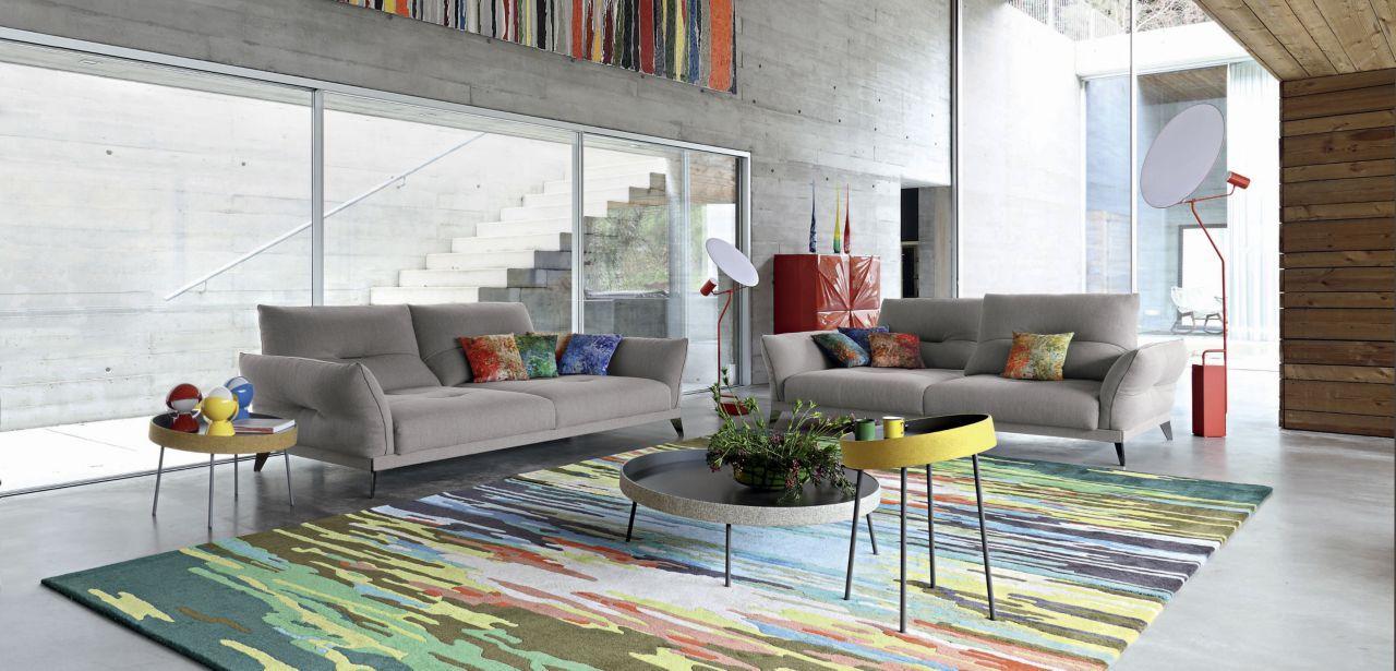 Upholstered In Urban Fabric 37 Cotton 33 Acrylic 25 Viscose 5 Polyamide Contrasting Piping Adj Furniture Interior Design Living Room Interior Design