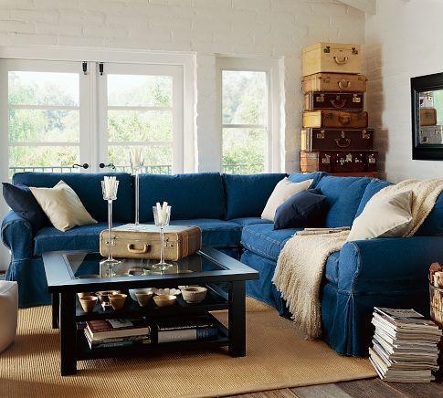 Pb Basic Sectional Slipcovers Living Room Remodel Dream Living Rooms Couches Living Room
