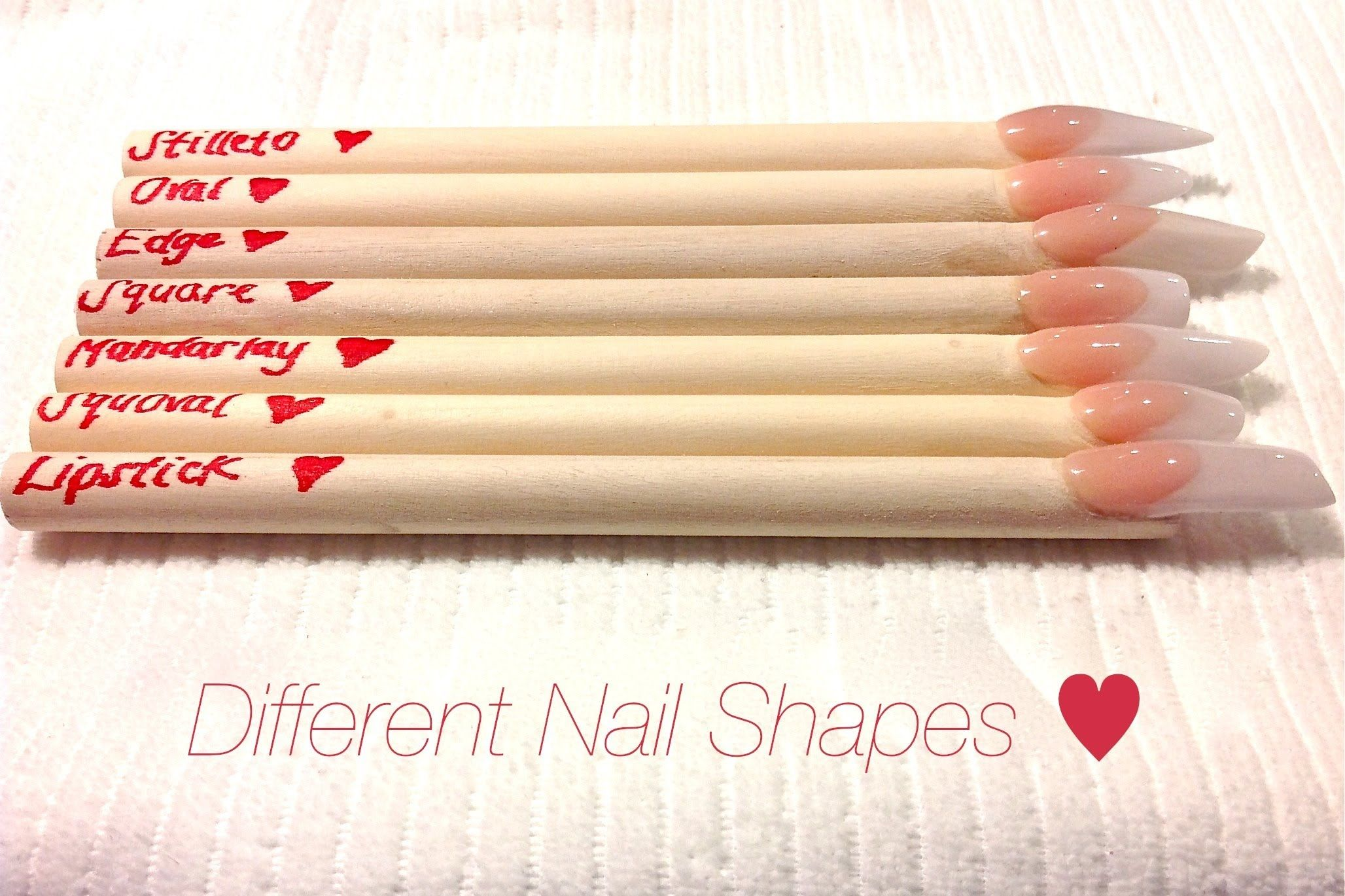 HOW TO: Different Nail Shapes ♥ | Beauty - Nail | Pinterest ...