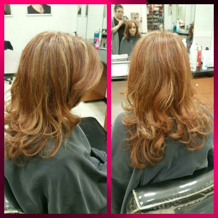 Highlights With A Rich Red Copper Overall Color Formula 7br 6bc
