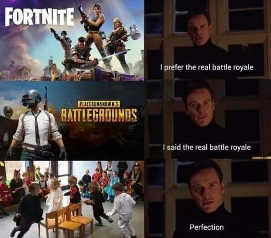 The Real Battle Royale Funny Gaming Memes Funny Games Really Funny