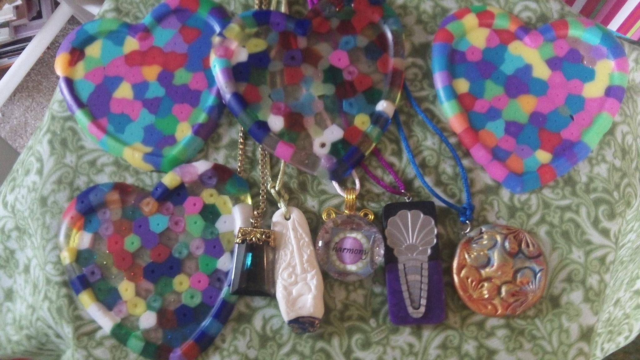 polymer pendants and other junk I've made - Lynn Craig