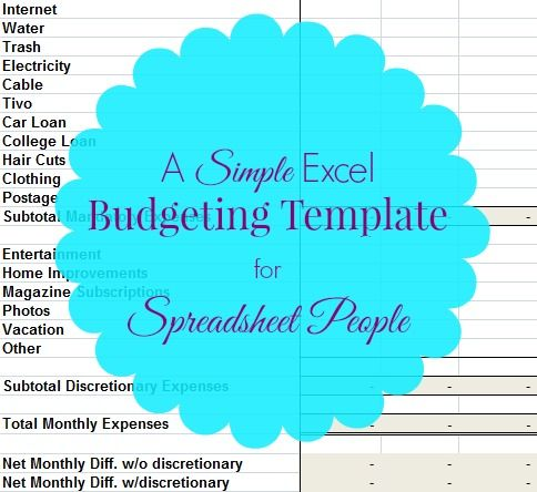 Free Sample Monthly Expenses Spreadsheet | Excel Budget Template