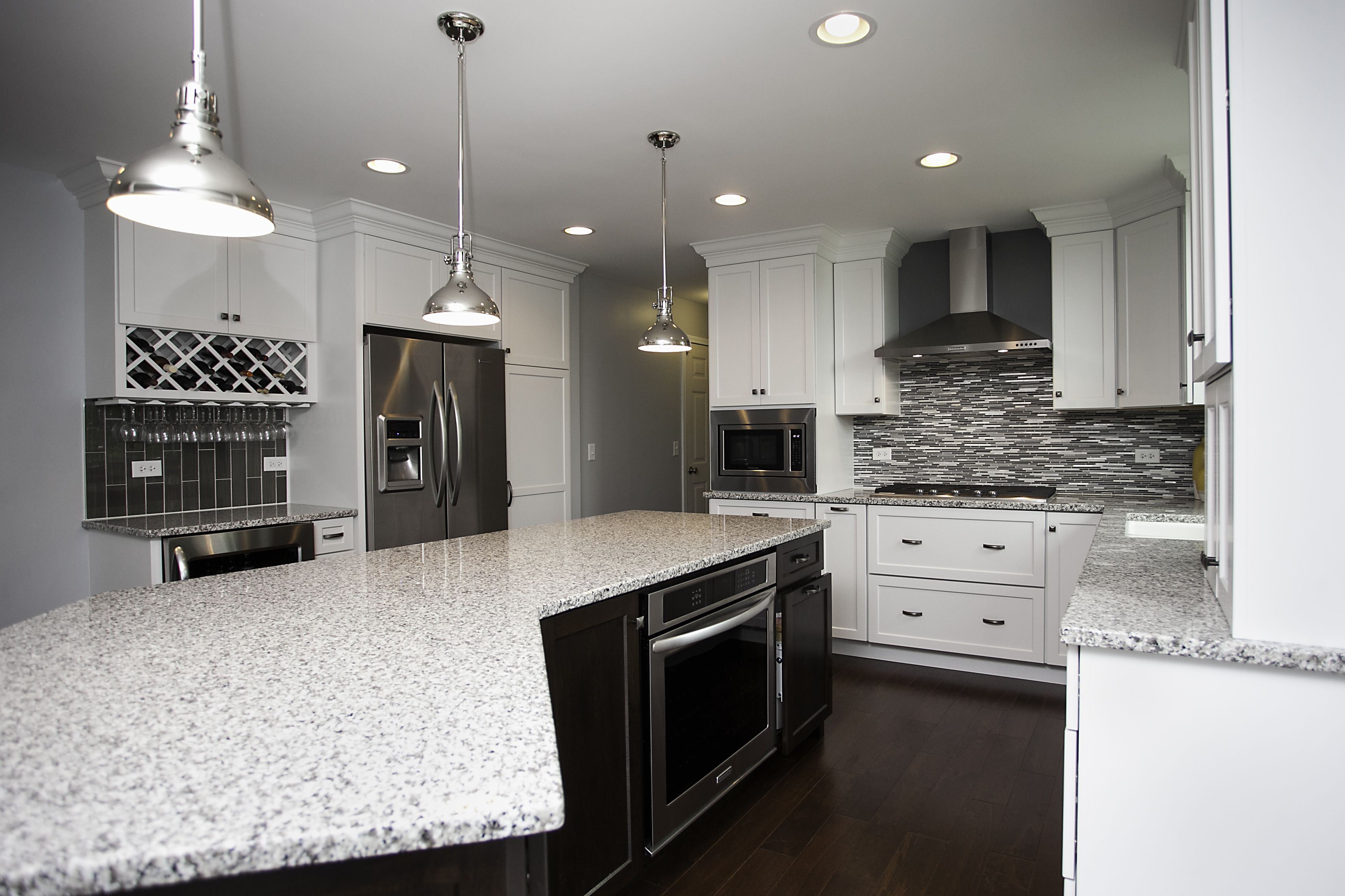 Transitional in style design wide open kitchen ready for Open kitchen island with seating
