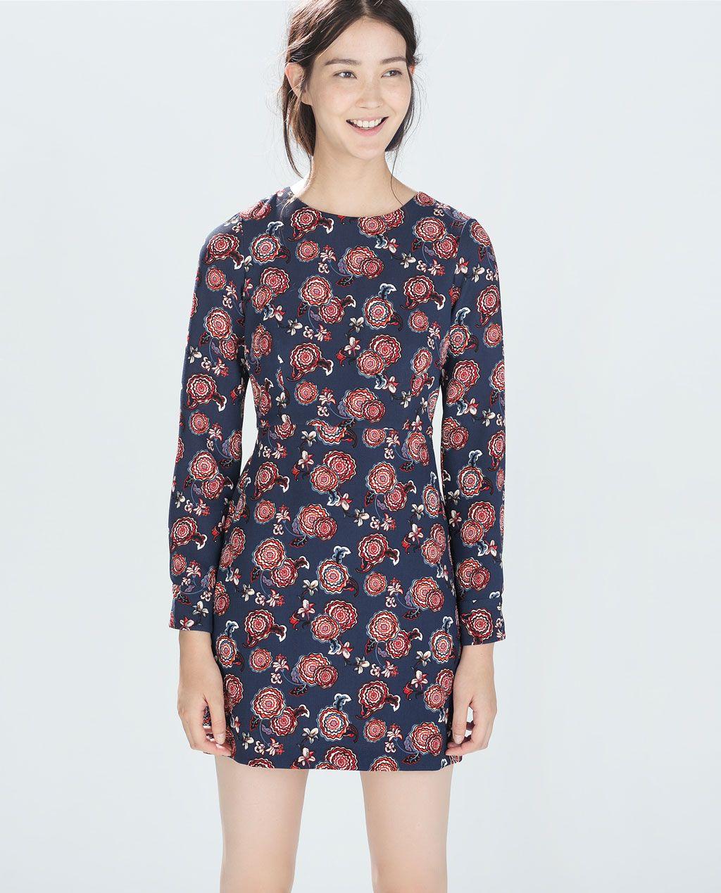 ZARA   WOMAN   PRINTED DRESS   Bedruckte kleider, Kleider, Kleider ...