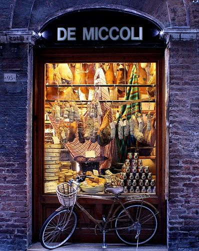 De Miccoli.  Great Travel Moment    De Miccoli can be found in just about any Italian town, this one is found in Florence, but you can find one just likeit it in Siena. On our Trip to Italy, we fell in love again with each other and with evey window front. The old world charm, the Culture, window shopping, Expresso, and Gelato, the Vino, to name a few of the comforts of Italy.