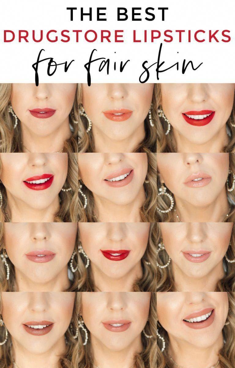 The best drugstore lipsticks for fair skin