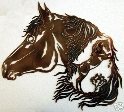 Horse Arabian Stallion Western Metal Art Home Rodeo Rustic Lodge ...