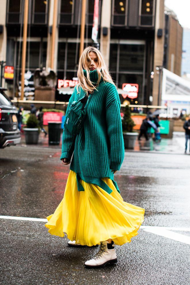 Street style à la Fashion Week automne-hiver 2018-2019 de New York