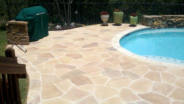 Colored Concrete Pool Decks | Create A Stunning Stamped Concrete Pool Deck  At Your Austin Home