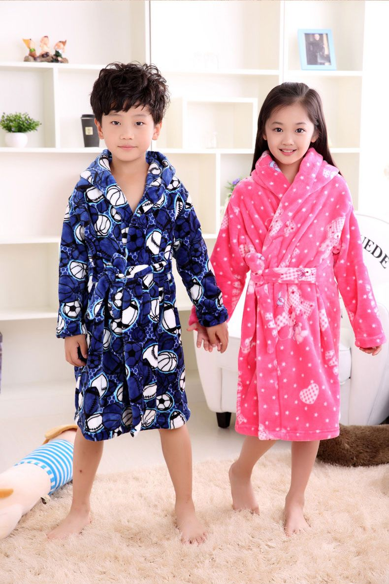 658b411f524e WENDYWU 2017 Spring Autumn Winter children s bathrobes puppy long sleeve  sleepwear girls pink robe boys robes pyjamas kids  Affiliate