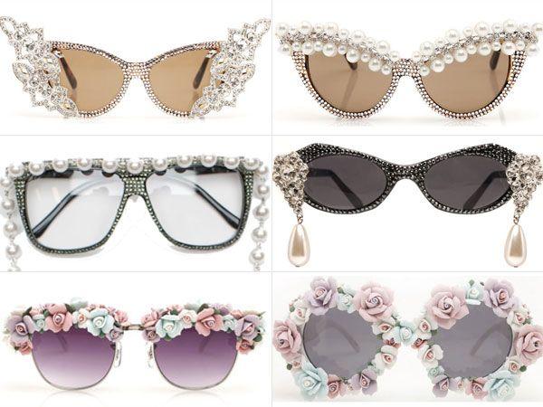 Óculos de sol decorados da A-Morir   Fashion   Pinterest   Glasses ... b4204d8c8b