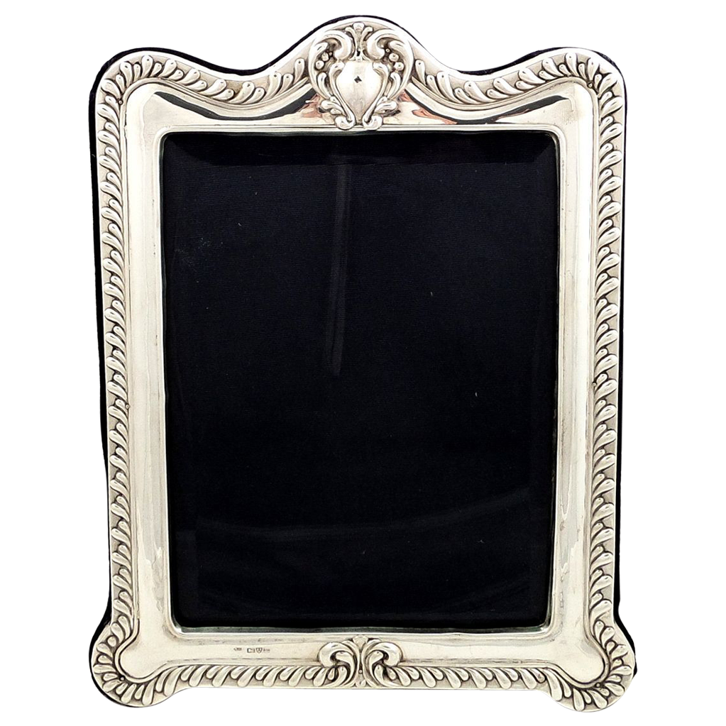 Large Edwardian Sterling Silver Photo Frame 1905 | Antique Silver ...
