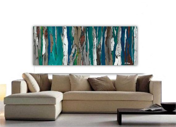 Large Wall Art Print Abstract Landscape Tree Canvas Long Painting Adorable Large Artwork For Living Room Inspiration Design