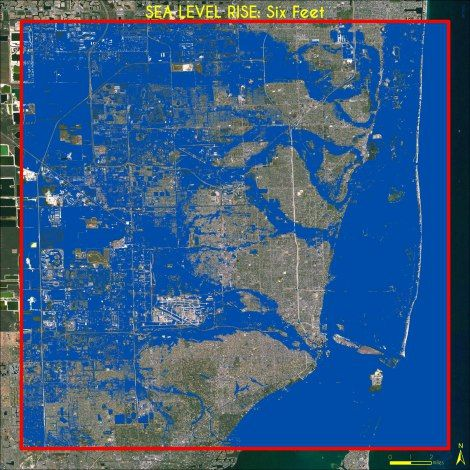 miami sea level rise map Maps Miami Sea Level Rise 1 6 Ft Sea Level Rise Sea Level Sea miami sea level rise map