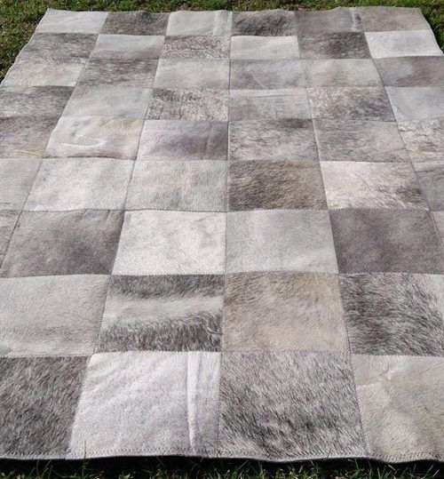 Mesmerizing Collection Of Gray Area Rugs Grey Cowhide Rug Made Product Squared Patchwork In Natural Leather With Supreme Size