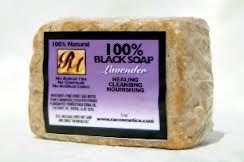 RA Cosmetics 100% Black Soap LAVENDER 5oz