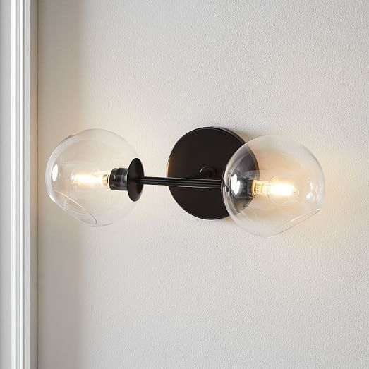 Staggered Glass 2 Light Sconce Clear in 2020 | Sconce