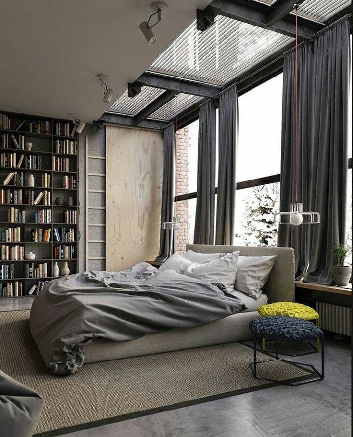 Bedroom Industrial style bedroom, Industrial bedroom