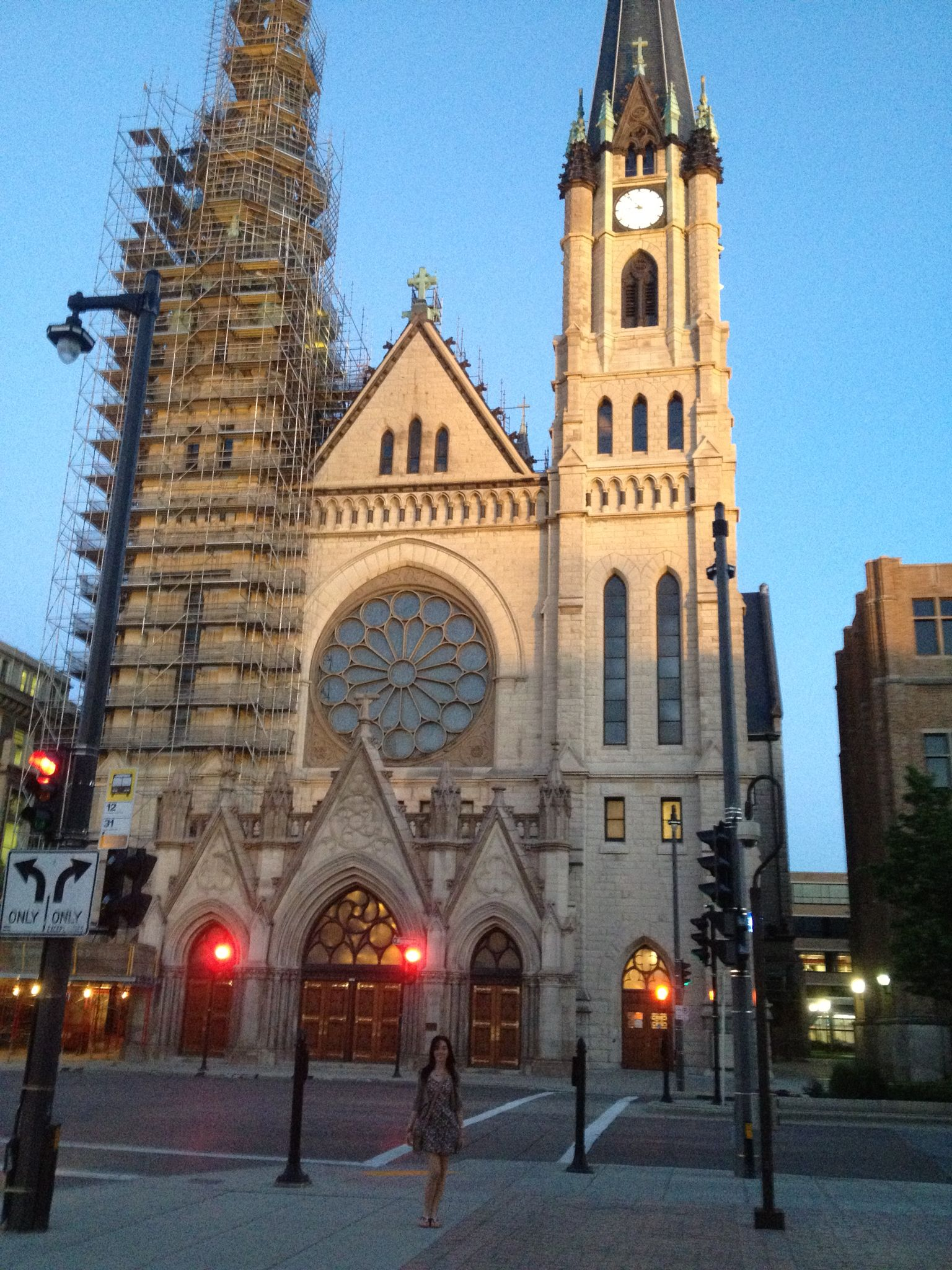 Beautiful architecture of this catholic church at marquette beautiful architecture of this catholic church at marquette milwaukee wisconsin aiddatafo Image collections