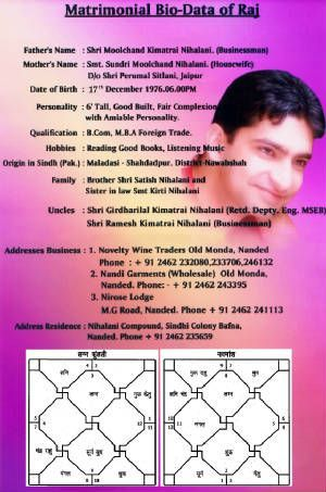biodata format for hindu marriage Google Search matrimonial bio