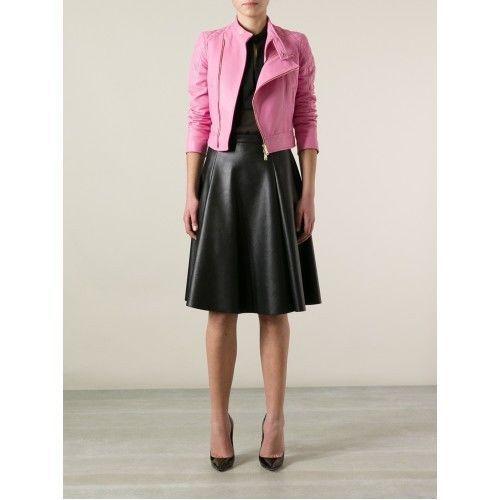 Womens Pink Leather Jacket Motorcycle Real lambskin Ladies Biker Coat S M – 233  | eBay