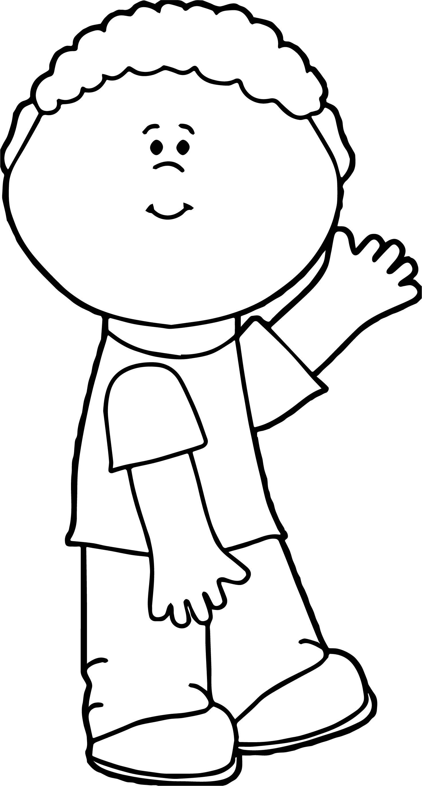 Boy Hi Coloring Page
