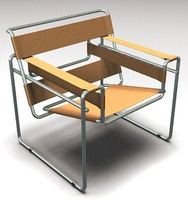 I am the proud owner of two of these beautiful chairs - Designed by Marcel Bruer in 1925 known as the Wasilly chair.