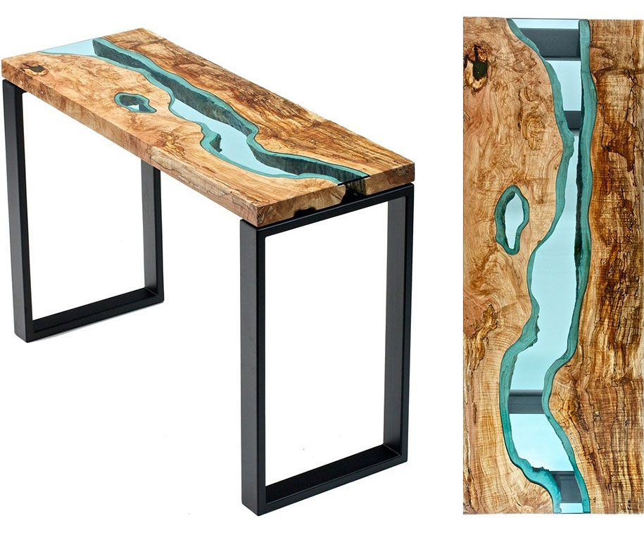 Attrayant Unique Wooden Tables Embedded With Glass Rivers And Lakes By Furniture  Maker Greg Klassen | DeMilked