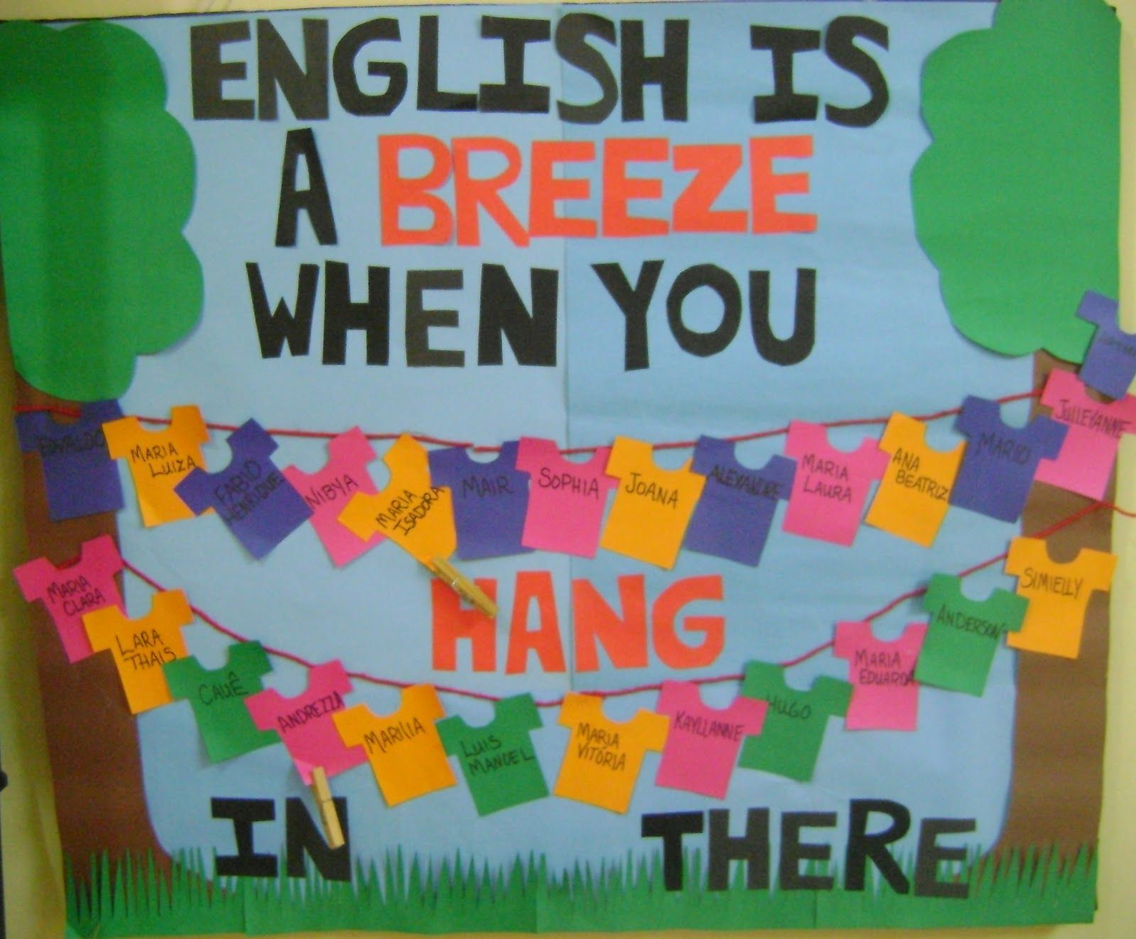 Esl Classroom Door Decoration : Helped me make this fun bulletin board for my class at the