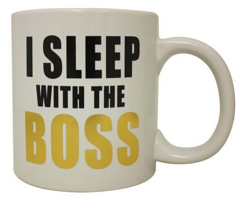 I Sleep With The Boss Coffee Mug #bosscoffee