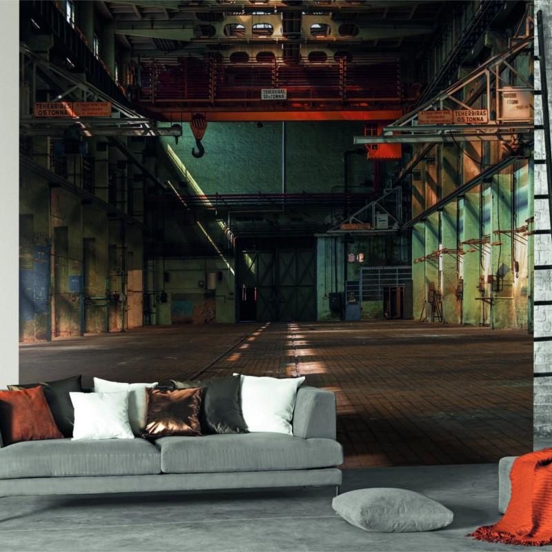 Panoramique Lost In The Factory Noir Beauty Full Image Par Casadeco En 2020 Entrepot Abandonne Photo Trompe L Oeil Lost