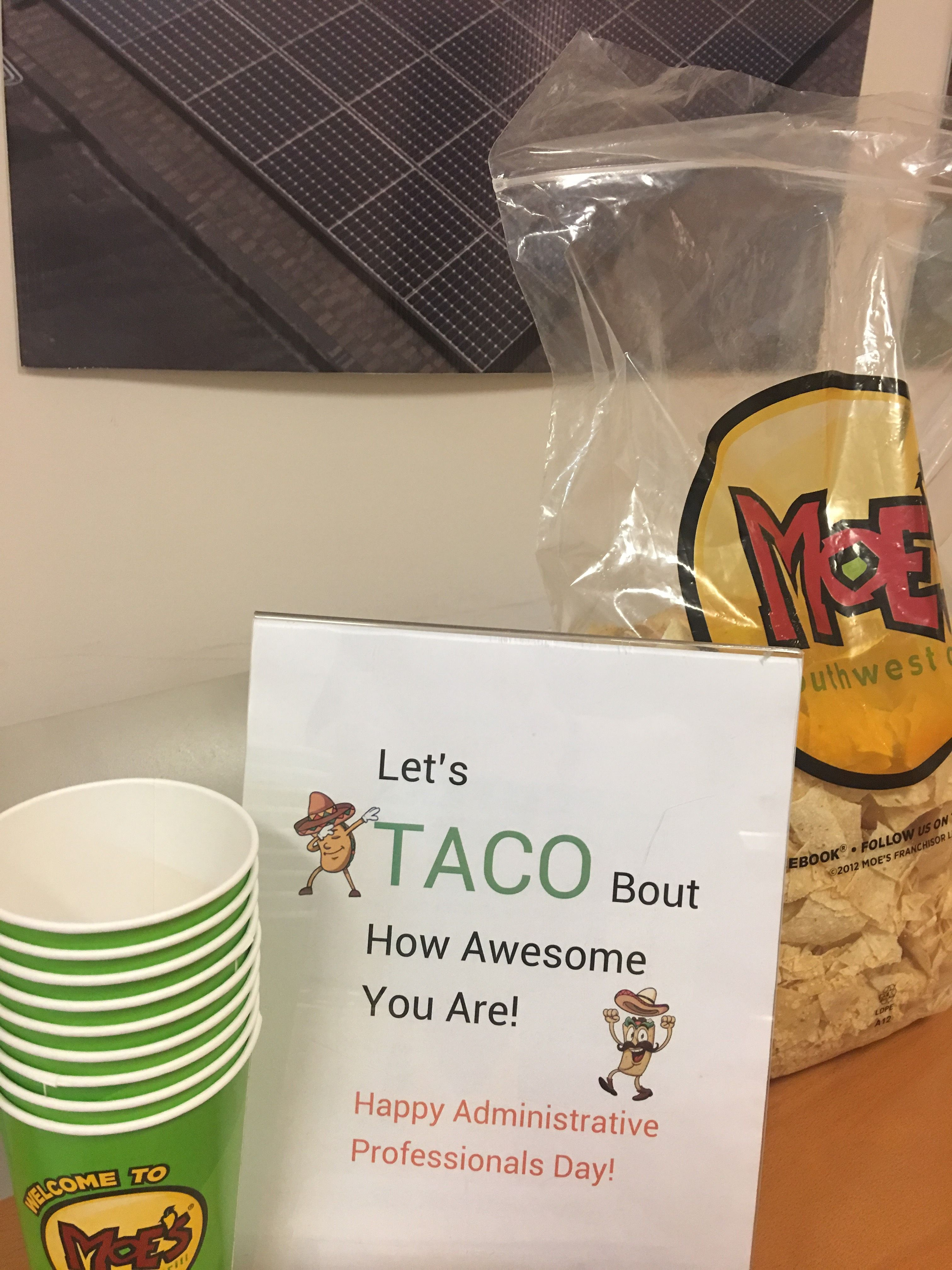Tacos for administrative professional day life at cape fear solar tacos for administrative professional day fandeluxe Gallery