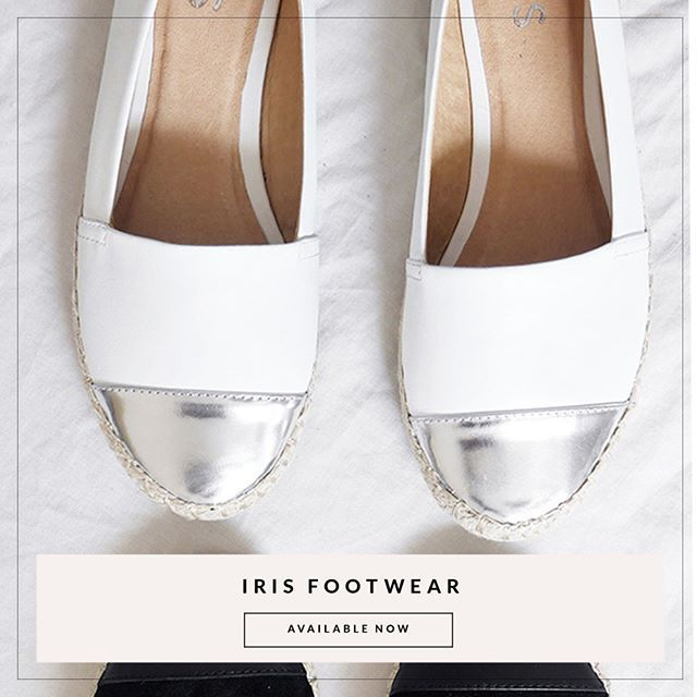 The Valerie, Available in black & White | Available Online | @iris_footwear