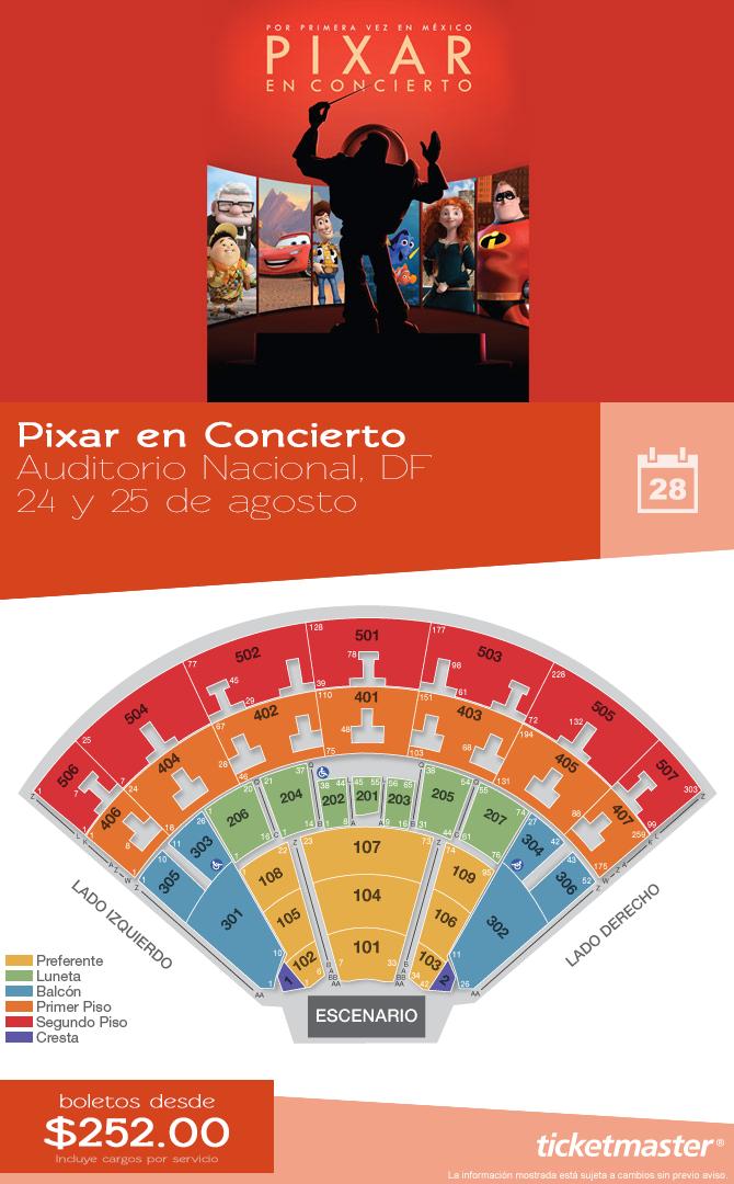 PixarEnConcierto en el AuditorioNacional, México DF
