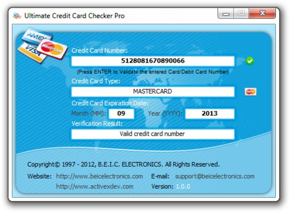 Creditcardvalidators creditcard cardnumberchecker