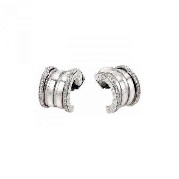 Bvlgari Bzero1 18k White Gold Diamond Earrings Or857975