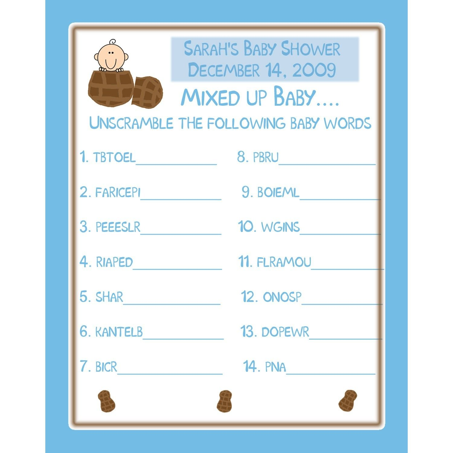 Easy Baby Shower Games Ideas Choice Image Baby Showers
