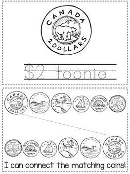 Canadian Money Coins Student Activity Booklet Preschool Kindergarten Canadian Money Money Worksheets Money Activities Kindergarten worksheets canada